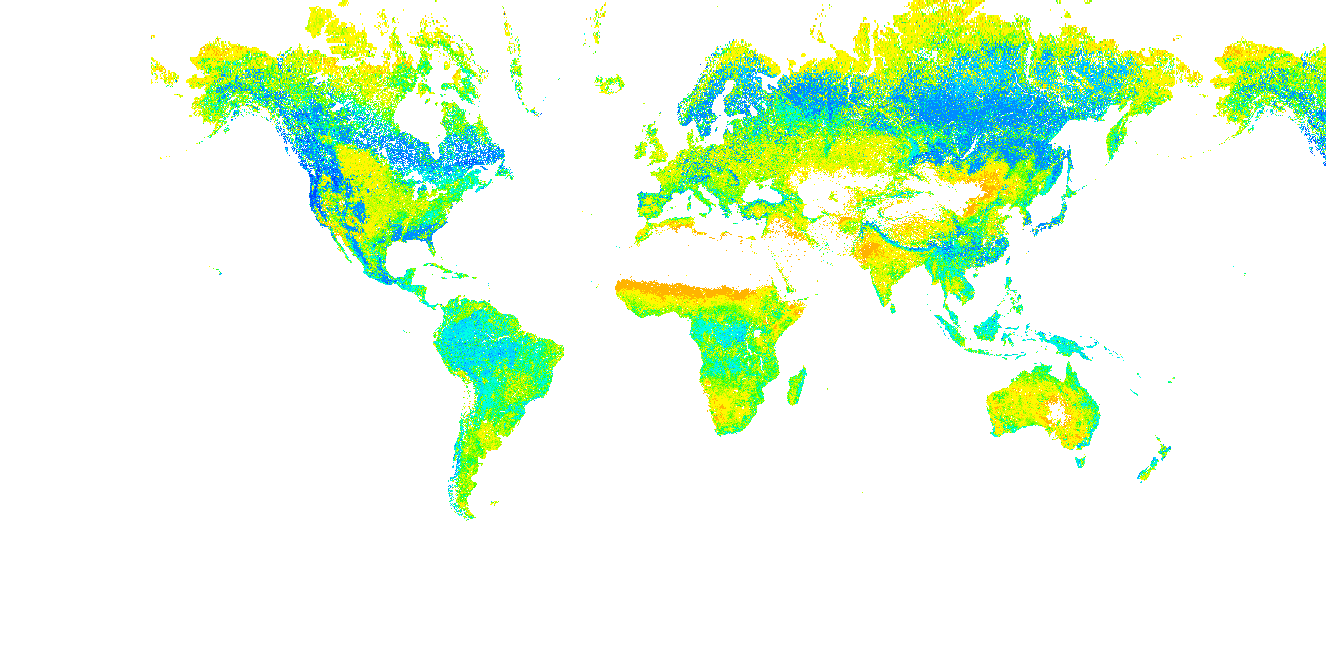 Global 500-m Foliage Clumping Index Data Derived from MODIS